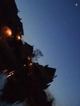 城と金星と月