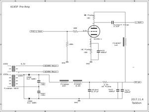 6C45Π Pre-Ampの検討