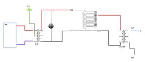 TDA1545A差動DACと差動TVC