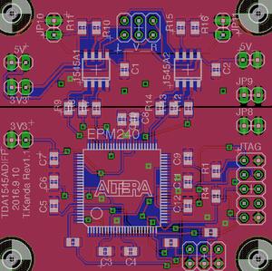 TDA1545A差動DAC rev1.1