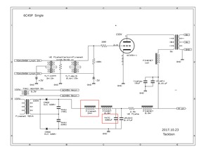 6C45Π Single 電圧回路