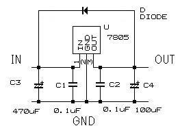 ダイオード電圧分圧基板(小電力用)