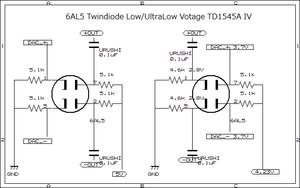 TDA1545A 低電圧TwinDiode真空管IV