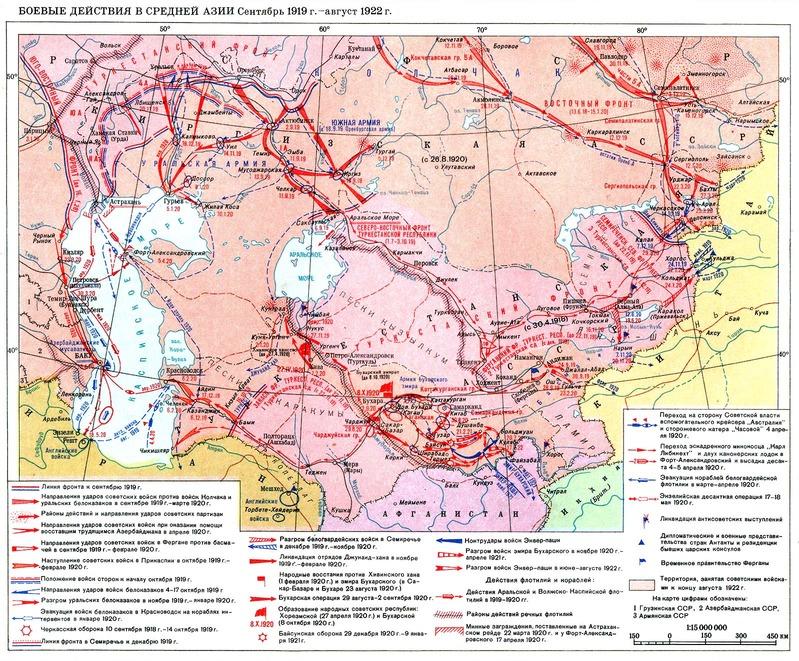 中央アジアにおける掃討_1919~1922