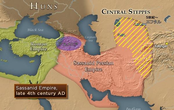 Map of Sasanian Empire