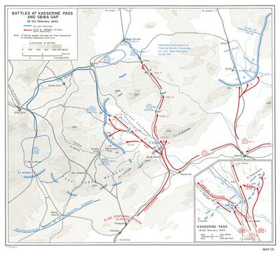 battle of Kasserine_ロンメル_ドイツ軍の突破と米軍の阻止