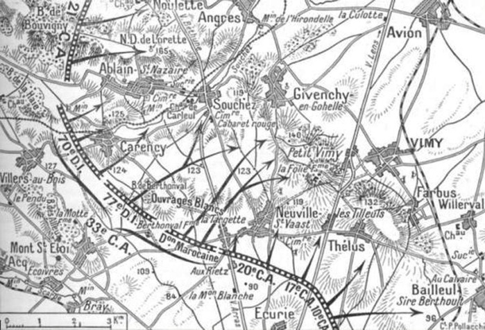 Second Battle of Artois_短時間砲撃と群突撃も予備少なく失敗