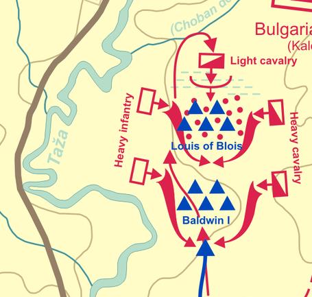 連続包囲Battle_of_Adrianople_(1205)