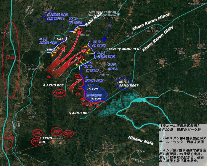 battle of Asal Uttar_9月10日_午後戦闘ピーク-min