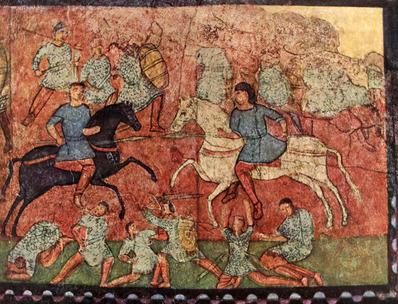 聖書_エベン・エゼルの戦いの壁画