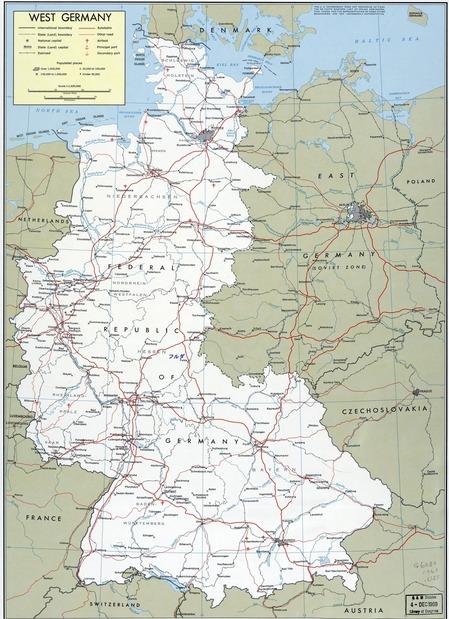 東西ドイツ地図_高速道路