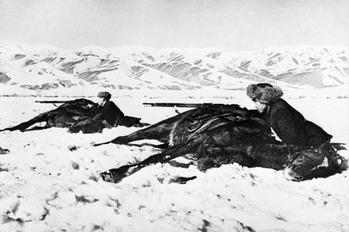 1941_雪原で展開するソ連軍タタール騎兵