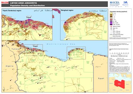 Libya_population map