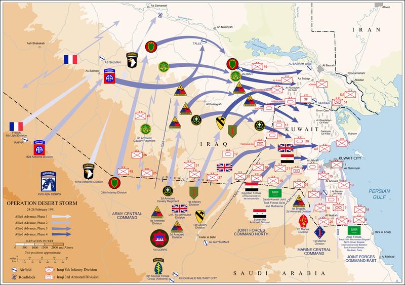 DesertStormMap_多国籍軍の攻勢