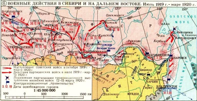 シベリア、沿海州での赤軍進撃_1919~1920