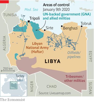 リビア油田及びパイプライン