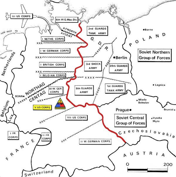 NATOの西ドイツの分担区域