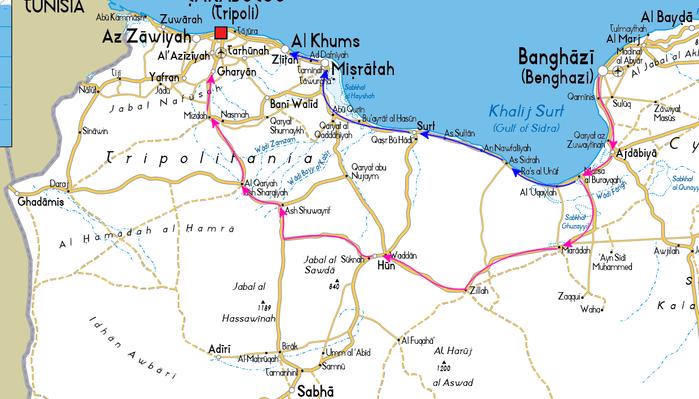 リビア_街道侵攻