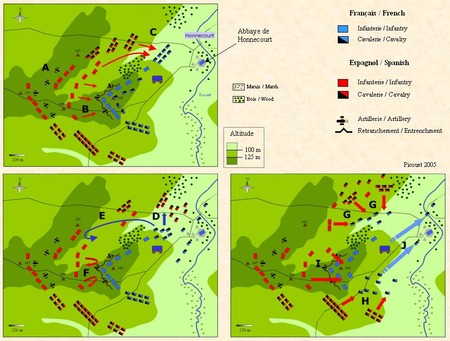 1642_Battle of Honnecourt_鉤型陣形の敗北_