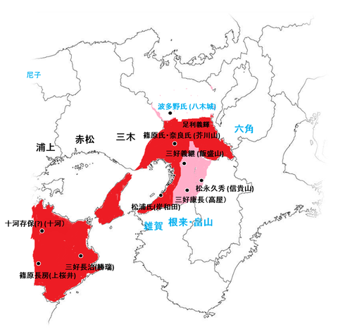 長慶死去後の配置図