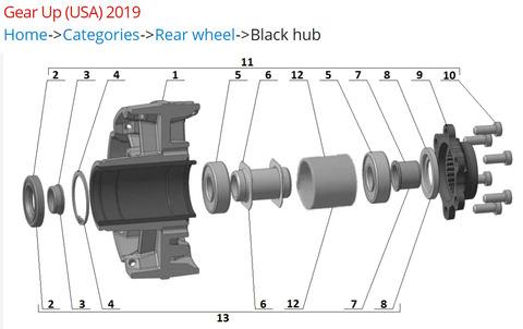 2019 rear hub