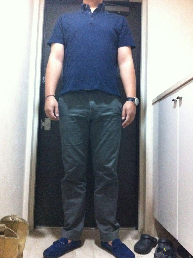 今日のカッコ【ジャケット】スーツカンパニー【ポロシャツ】無印良品【パンツ】リーバイス【シューズ】ZARA