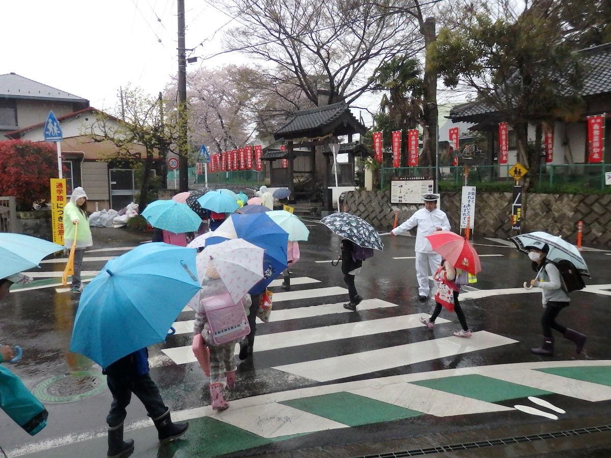 今日は朝から雨…傘に手さげに ...