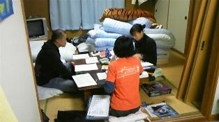 クラブハウスで勉強中(^_^;)