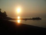 西伊豆の夕陽。