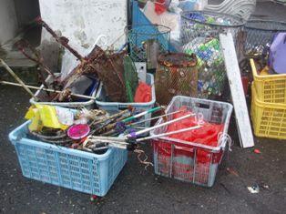 回収されたゴミたち
