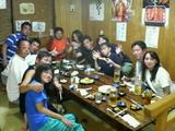 夜は沖縄料理と久米仙