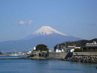 沼津から見た富士山