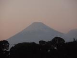 夕焼けの富士山