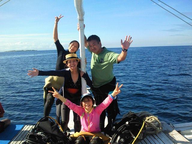マクタン島での初ボートダイブ