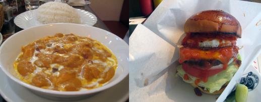 カレーとハンバーガー