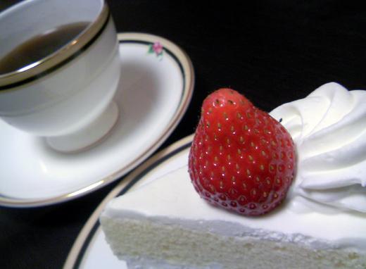 ショートケーキと珈琲