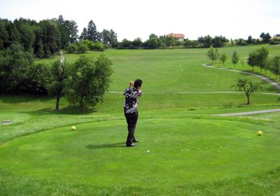 ゴルフ場にて