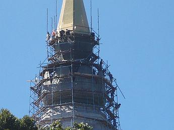 インタノンの仏塔ヨリ