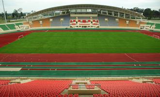 ラオスの新スタジアム