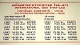 パクセーへの国際バス時刻表