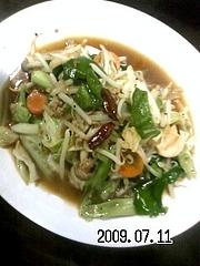 090711_法蓮3分クッキング#73【野菜炒め定食】