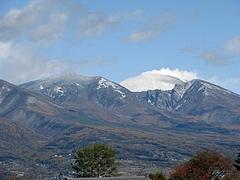 浅間山の初冠雪
