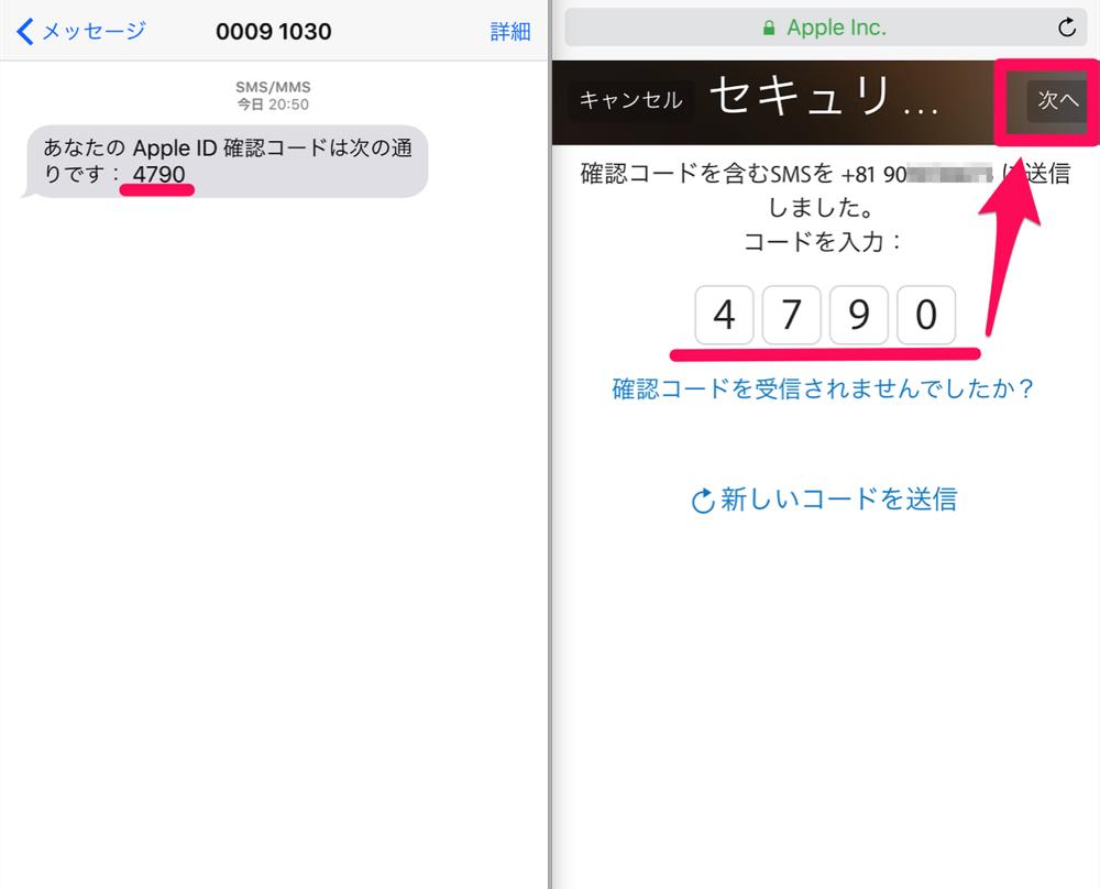 Appleid manage input code
