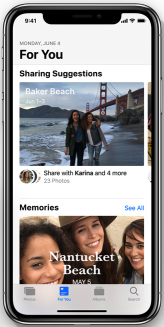 Ios12 photo sharing