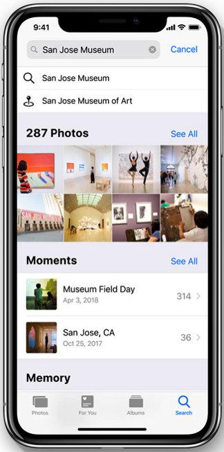 Ios12 photo search
