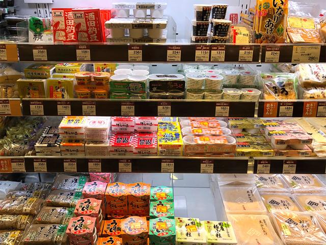 神戸大丸の納豆棚
