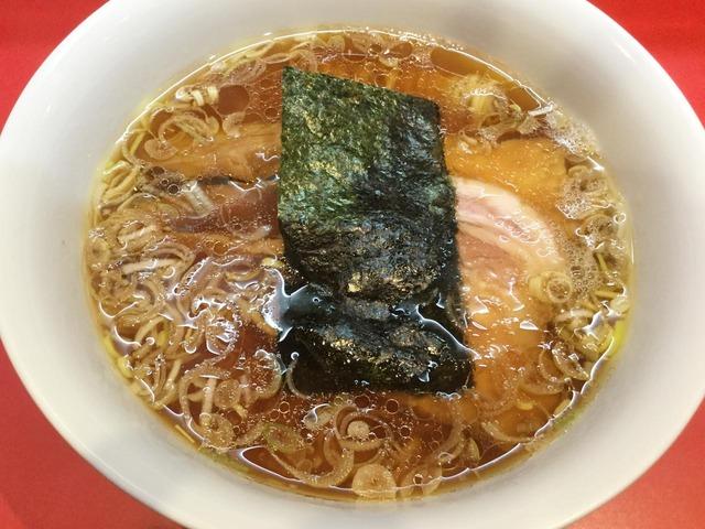 大阪のソールフード=カドヤ食堂の中華そばをいただく