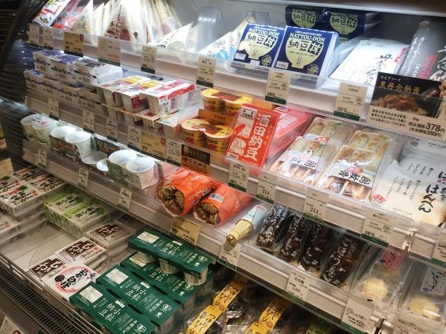 阿倍野パントリーの納豆棚