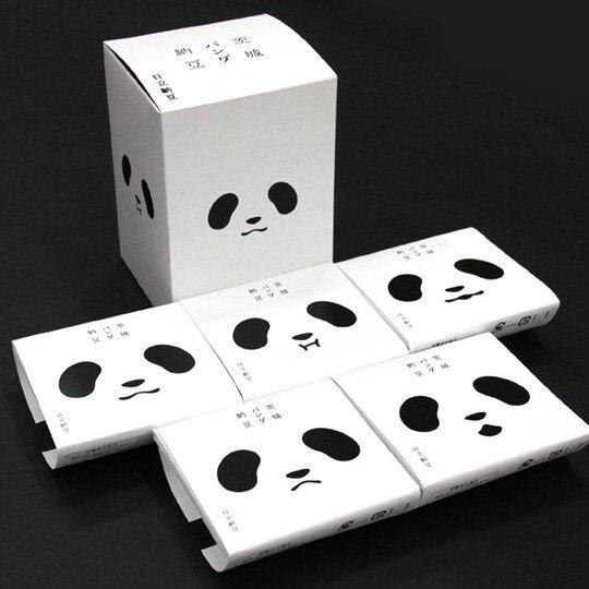 四角いパンダ5頭入り