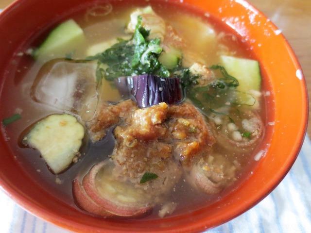 三田づくしで作った冷汁